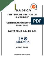 Gestion Certificación ISO
