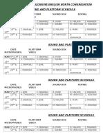 Sound and Platform Schedule-march