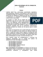 Análisis Del Plan Estratégico de La Ciudad de Cuenca