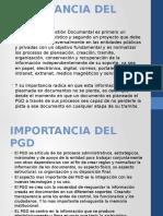 Importancia Del Pgd