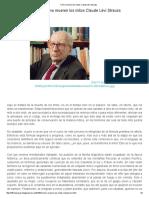 Cómo Mueren Los Mitos Claude Lévi Strauss - Copia