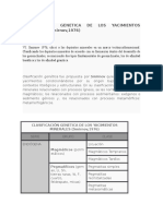 Clasificación Genetica de Los Yacimientos Minerales (Smirnov)