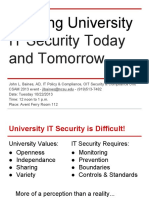 Defining University IT Security Today and Tomorrow