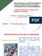 DEFENSA CIVIL PARTICIPACIÓN DE LA POBLACION