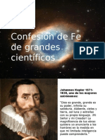 Confesion de Fe de Grandes Cientificos