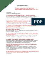 Cuestionario Cap 2 y 3 . Libro Historia Critica de la arquitectura