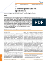 Technology for rerefining used lube oils applied in Europe