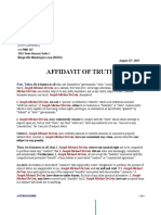 Affidavit of Truth 2015