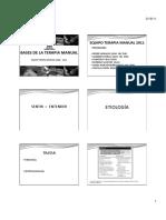 1.-Bases de La Terapia Manual 2010