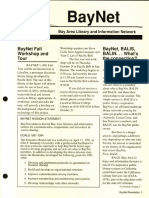 BayNet News Fall 1991