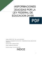 impacto de la ley federal de educacion argentina