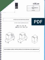 Manual de Instalación y mantenimiento de Compresor Quincy QGS-5