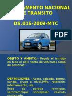 Reglamento Nacional de Transito - Diapositivas