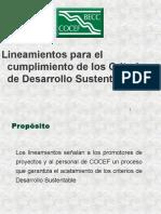 Presentacion. a. Lineamientos Para El Cumplimiento de Los Criterios de Desarrollo Sustentable (70 Dp). Eric Hutson y Otro (COCEF-BECC). 1997