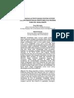 PENERAPAN ACTIVITY BASED COSTING SYSTEM  DALAM PERHITUNGAN PROFITABILITAS PRODUK  PADA UD. NIAGA BAKTI