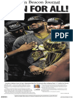 Cavs seen on newspaper front pages across the nation