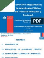Seminario de Reglamentos de a.P. Tránsito Vehicular- Santiago - 26012016