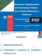 Seminario de Reglamentos de A P  Productos Eléctricos de uso en A P  - 26012016.pptx