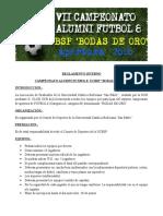 Reglamento Interno Futbol 8