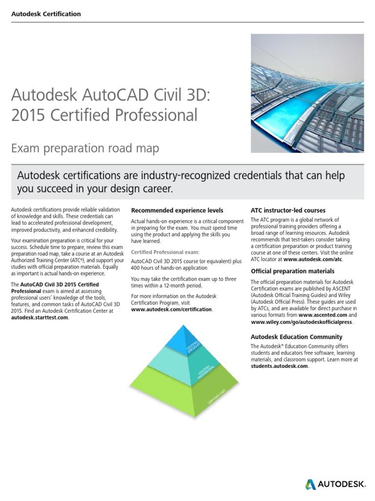 autodesk autocad civil 3d 2015 certification roadmap v2 autodesk rh scribd com