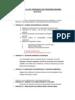 Análisis de La Ley Orgánica de Municipalidades Nº27972
