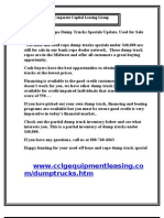 Off lease and Repo Dump Trucks Specials Update, Used for Sale Under $40,000