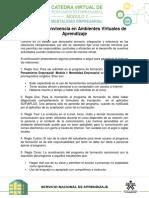 Reglas de Convivencia en Ambientes Virtuales de Aprendizaje(1)