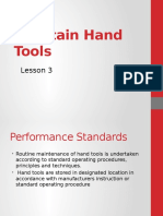 Maintenance of Hand Tools