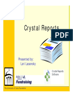 Crystal Reports Tips