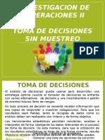 Iop II Toma de Decisiones Sin Muestreo