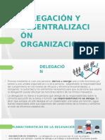 Delegación y Desentralización Organizacional
