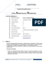1. Sílabo Administracion y Organizacion Unasam