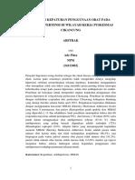 Draft Kolokium Analisis Kepatuhan Penggunaan Obat Pada Pasien Hipertensi