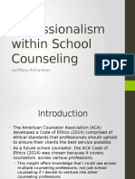 professionalism within school counseling