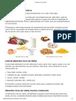 Alimentos Ricos Em Valina