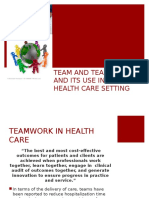 Team and Team Role and Itsuse in the Health Care Setting