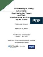 Australia Mining Sutainability