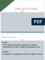 5C of Credit -1
