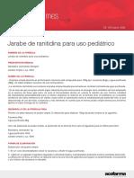 Jarabe de Ranitidina Param Uso Pediatrico