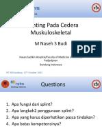 Dr. M. Naseh Sajadi Splinting PIT IDI