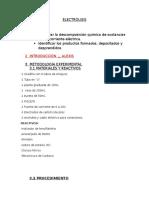 Lista de Materiales y Procedimiento Experimental