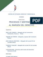 Afiche Foro Procesos y Sentencias Al Margen Del Derecho by CEDED