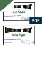 Label Kripik Singkong