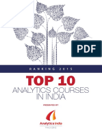 Top 10 Analytics Courses in India 2015