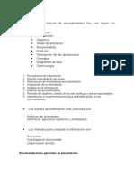 Elaboración de Un Manual de Procedimientos