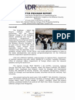 Program Report Re EDCA Forum (With Perspectives of Reactors)