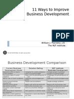 11 Ways to Improve Business Development Rev 040404 Website
