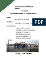 Informe Del Canal Trapezoidal
