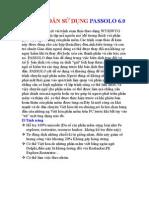 HƯỚNG DẪN SỬ DỤNG PASSOLO 6 0