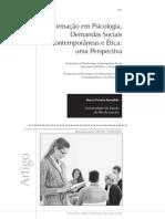 Formação Em Psicologia e Demandas Sociais e Ética